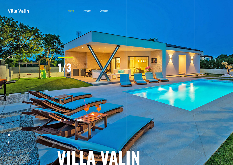 Villa Valin website by kreativnikutak - vizdiz.xyz