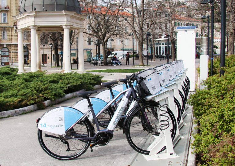 RICIKLETA bike-sharing system is in use