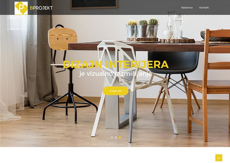 Bprojekt web page by vizdiz.xyz