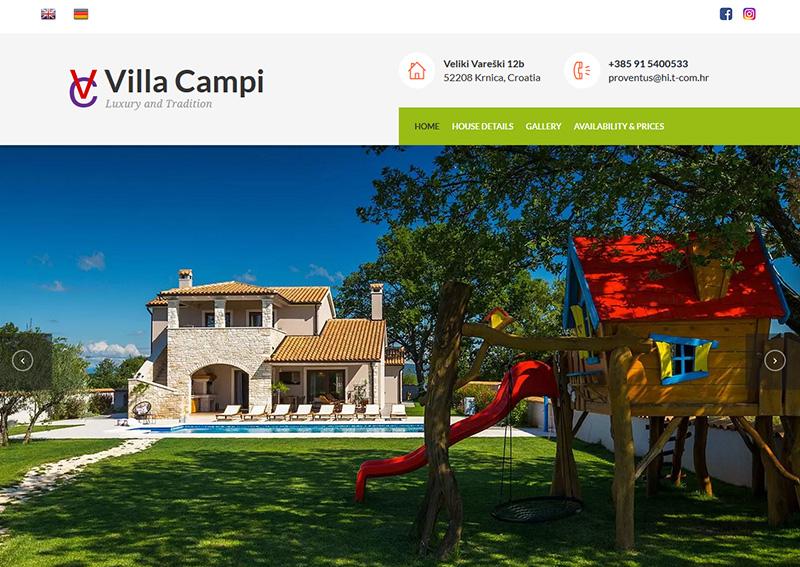 Villa Campi web page